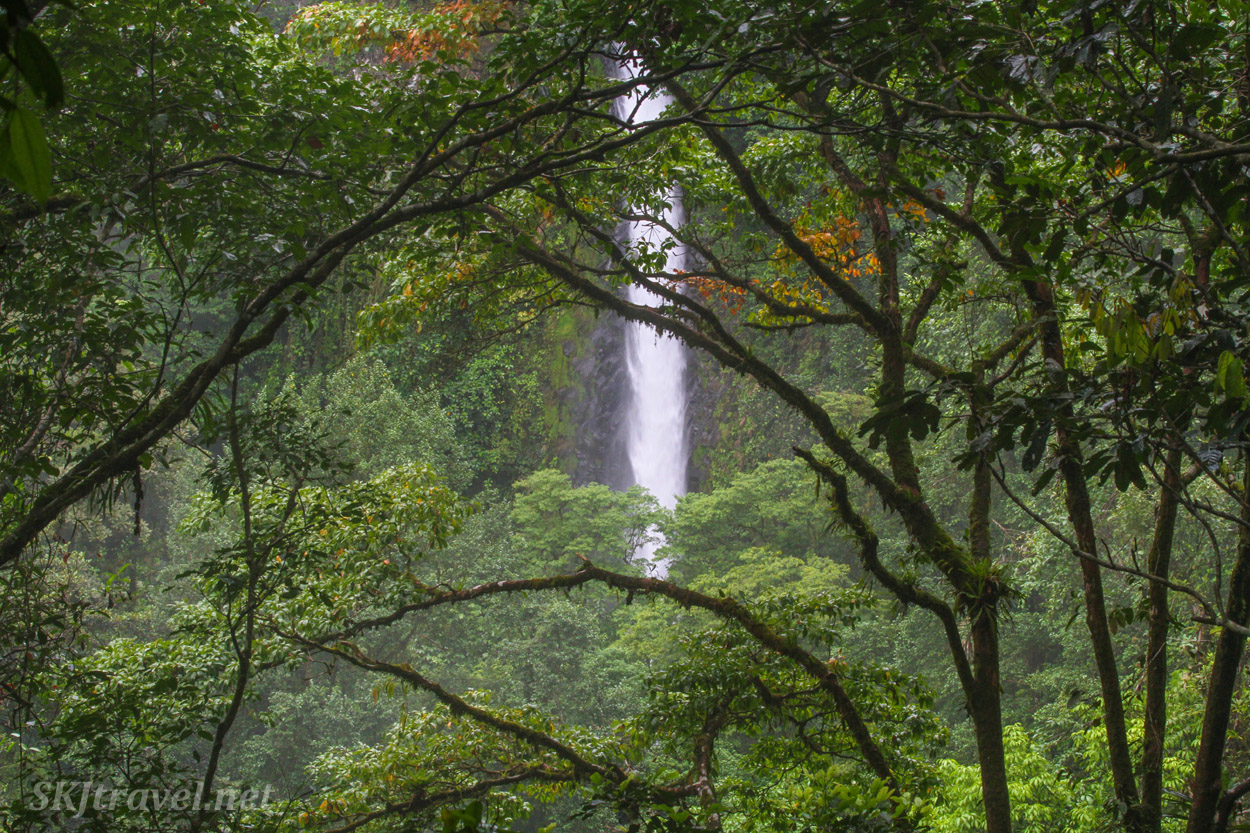 La Fortuna Waterfall, upper view. Costa Rica.