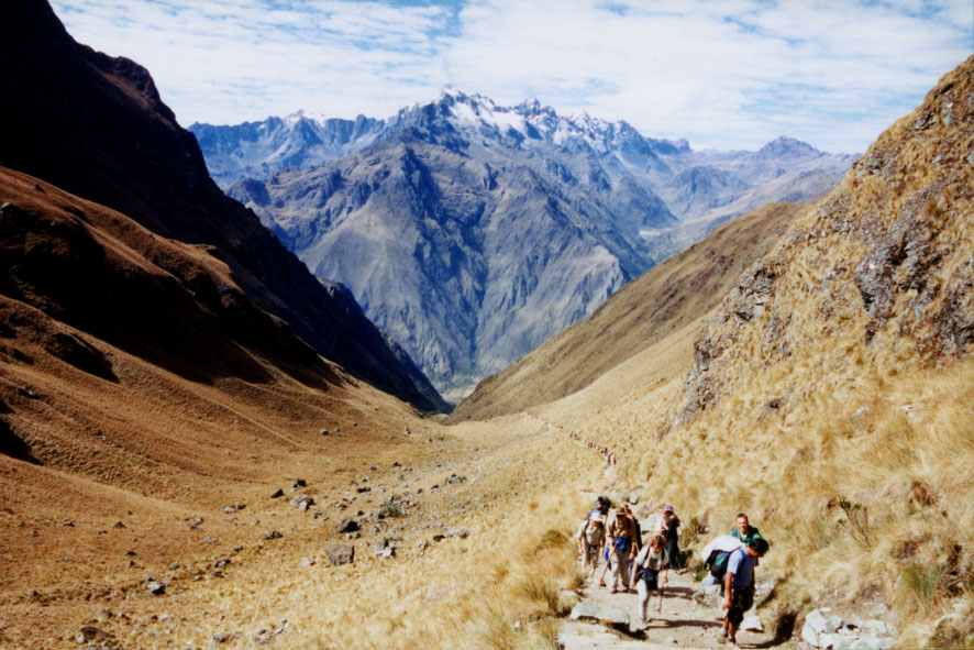 4 day Inca Trail route via Dead Woman's Pass to Machu PIcchu, Peru.