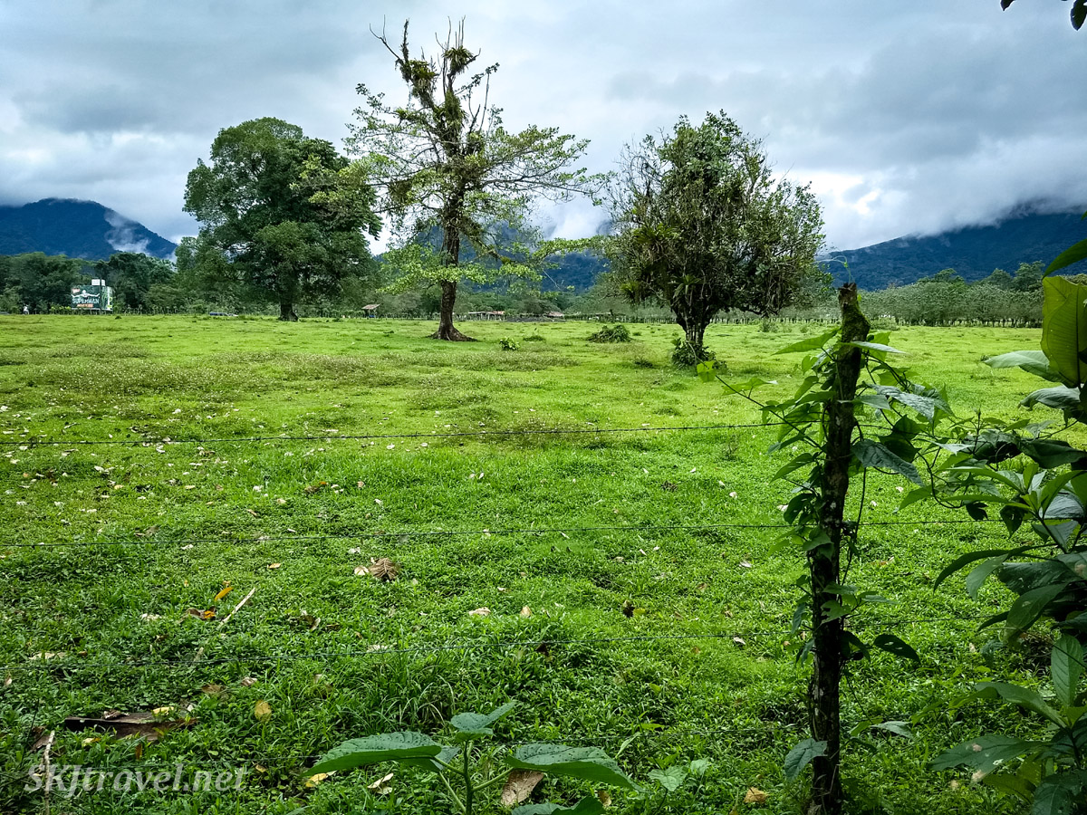 Pasture land in La Fortuna, Costa Rica.