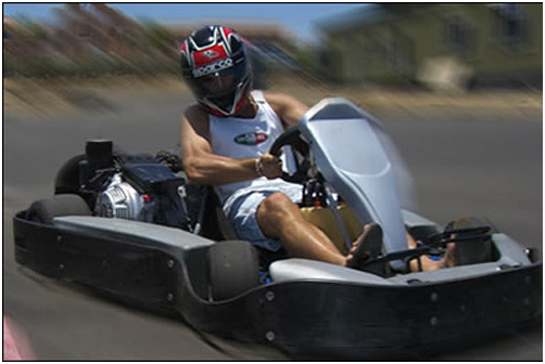 Go-karts at Cabo Karting Center, Cabo San Lucas, Mexico