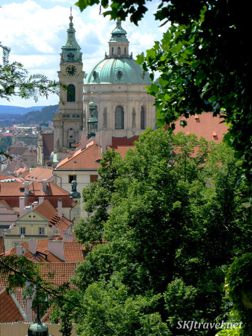 Looking out from the castle gardens. Prague.