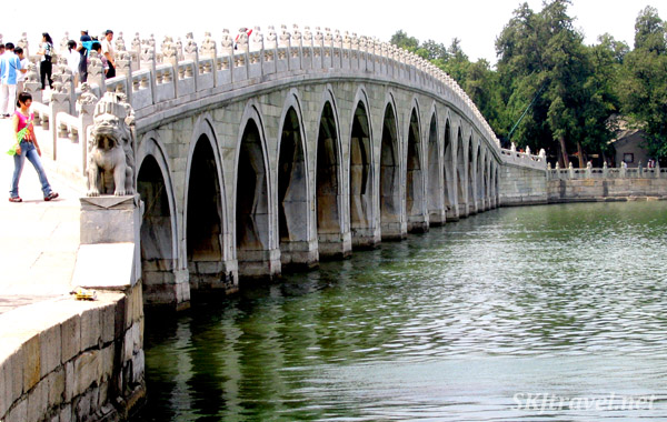 17-Arch Bridge (I didn't actually count them to make sure) over Lake Kunming, Summer Palace, China.