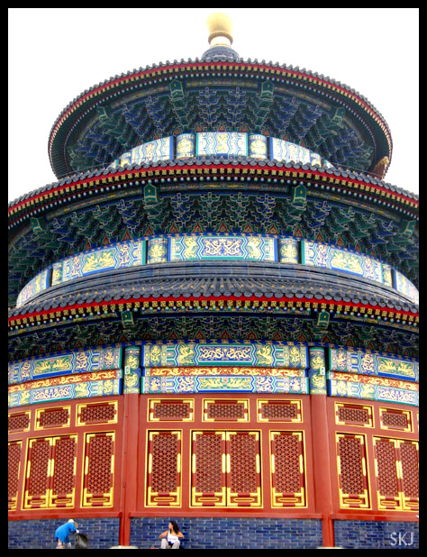 very large colorful three-tiered pagoda