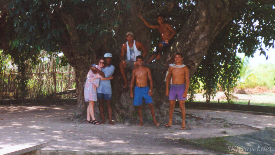 On the mysterious island with our new friends, Sao Joao de Pirabas, Brazil.