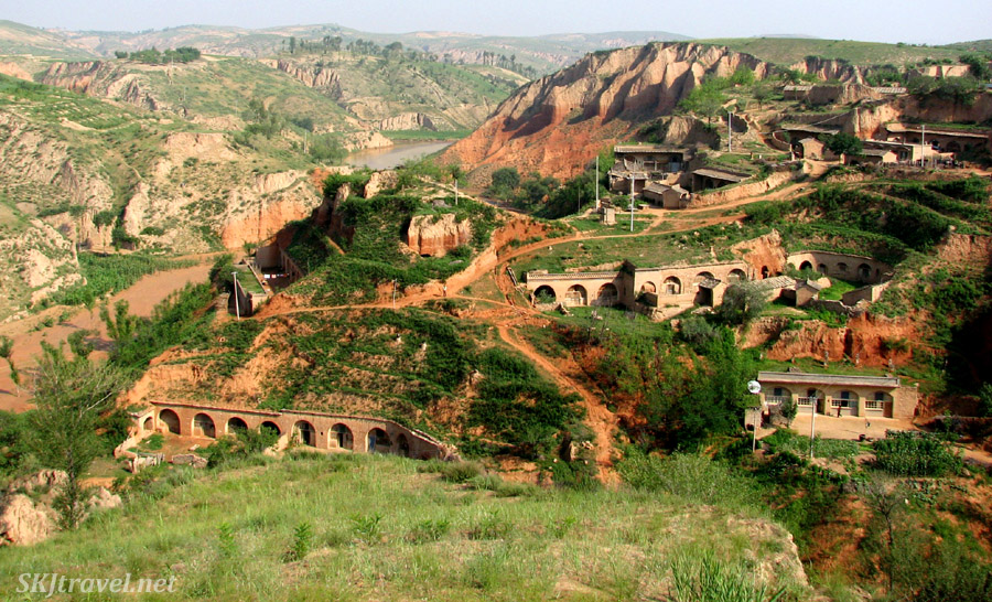 Dang Jiashan village in the Loess Plateau of northern Shaanxi Province, China.