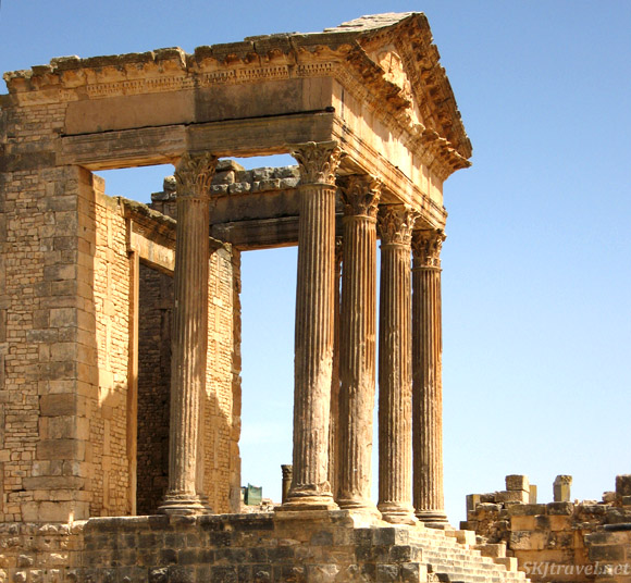 Temple at ancient city of Dougga, Tunisia.