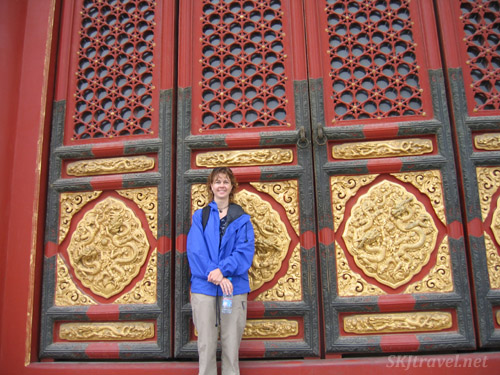 "Did I say ""very tall doors?"" Here's a sense of scale. Forbidden City, Beijing."