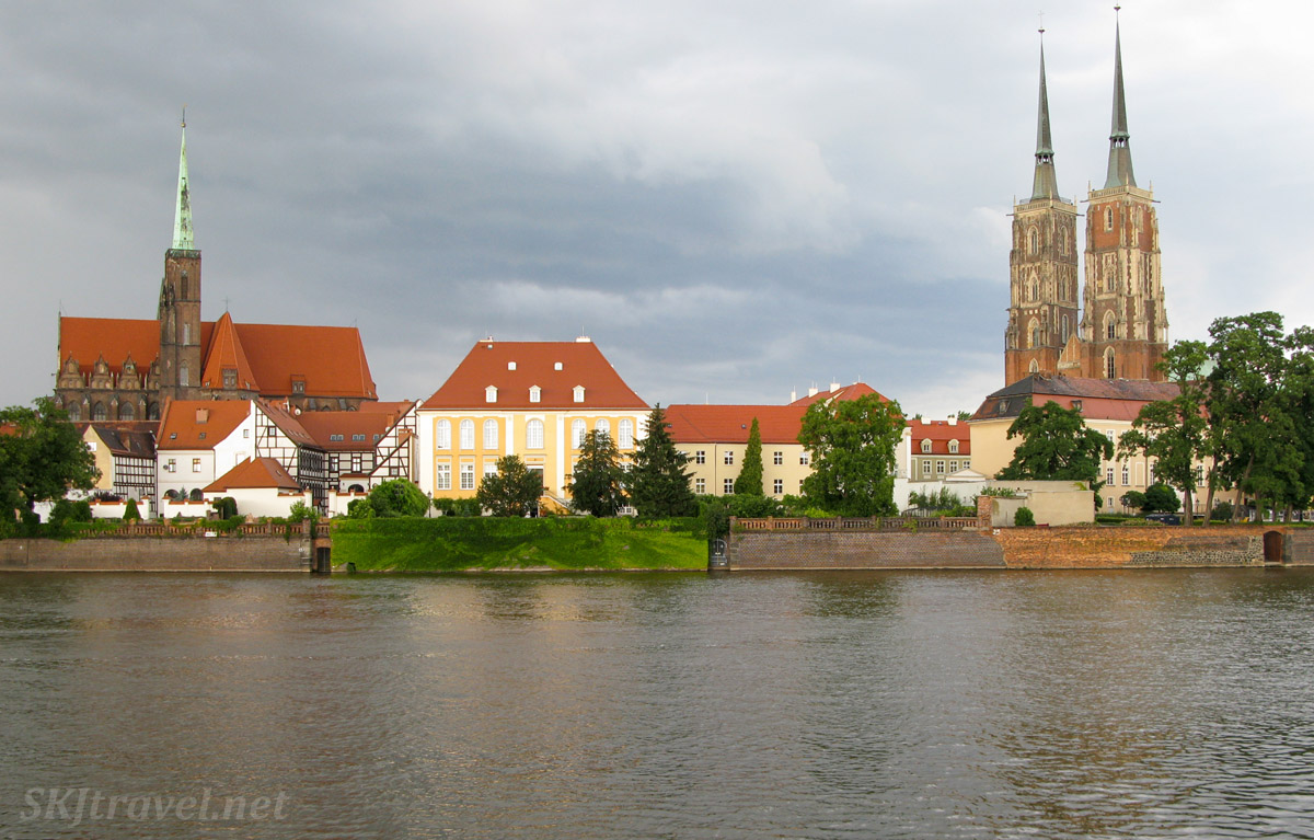 Wroclaw, Poland, on the Oder River.