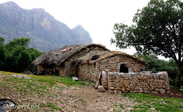 Seasonal home of a Qashqai nomad. Zagros Mountains, Shiraz, Iran.