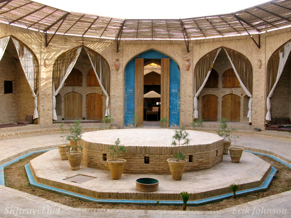 Old caravansary turned into a hotel and tea house along the road between Kerman and Yazd, Iran.