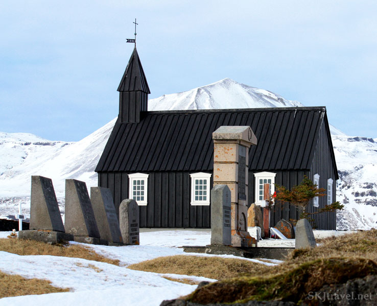 Typical small church and cemetery on the Snaefellsnes Peninsula, Iceland. Photo by Shara Johnson